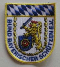 Aufnäher BBS-Bayern, weiss, klein